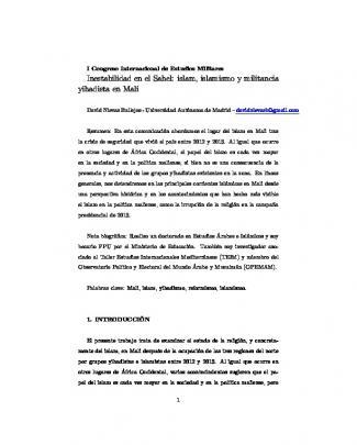 David Nievas Bullejos - I Congreso Internacional De Estudios Militares