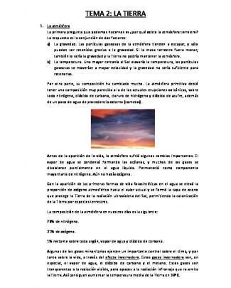 Tema 2: La Tierra