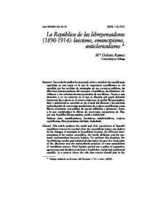 La República De Las Librepensadoras (1890