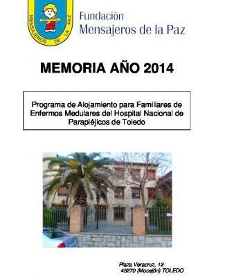 Memoria Año 2013 - Fundación Mensajeros De La Paz