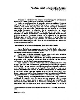 Psicología Social, Comunicación, Ideología.