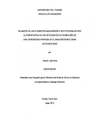 Relación De Los Elementos Académicos E Institucionales Con La
