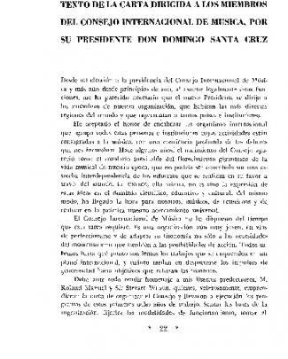 Texto De La Carta Dirigida A Los Miembros Del Consejo Internacional
