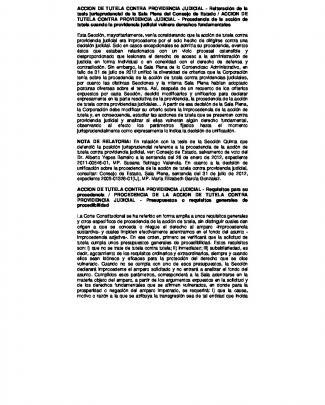Accion De Tutela Contra Providencia Judicial