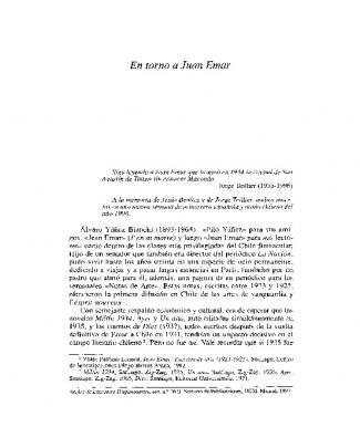 En Torno A Juan Emar - Revistas Científicas Complutenses