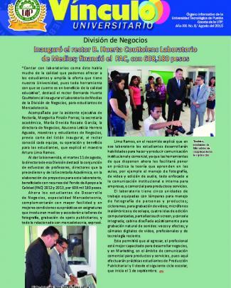 División De Negocios Inauguró El Rector B. Huerta