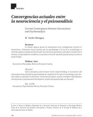 Convergencias Actuales Entre La Neurociencia Y El Psicoanálisis