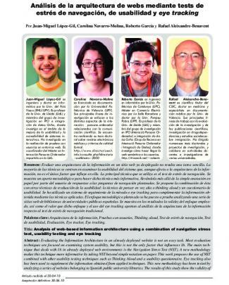 Análisis De La Arquitectura De Webs Mediante Tests De