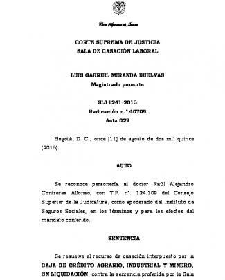 Sl11241-2015 - Corte Suprema De Justicia