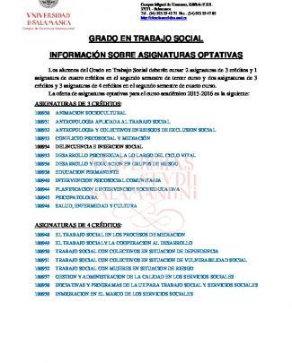 Fichas De Asignaturas Optativas