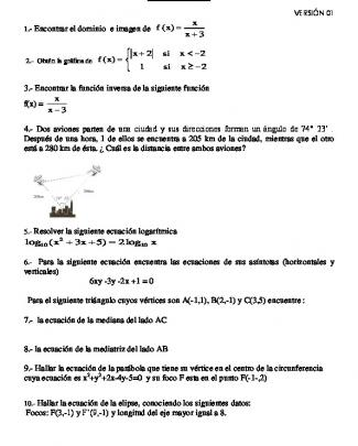 1.- Encontrar El Dominio E Imagen De ( ) 3 X F X X = + 2 2 ( ) 1 2 X Si