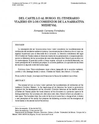 Del Castillo Al Burgo. El Itinerario Viajero En Los Comienzos De La