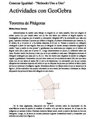 Geogebra: Pitágoras.