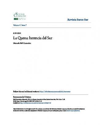 La Quena: Herencia Del Sur