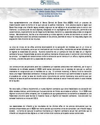 Coyuntura Nacional 2-2016 - Banco Central De Costa Rica