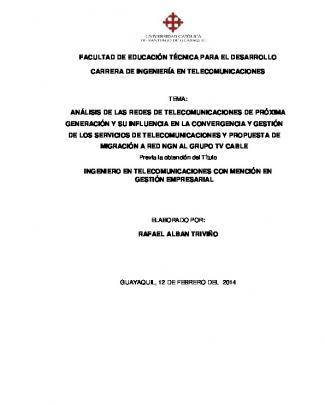 Capítulo I - Universidad Católica De Santiago De Guayaquil
