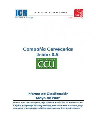Ccu-informe De Clasificación- Mayo 2009