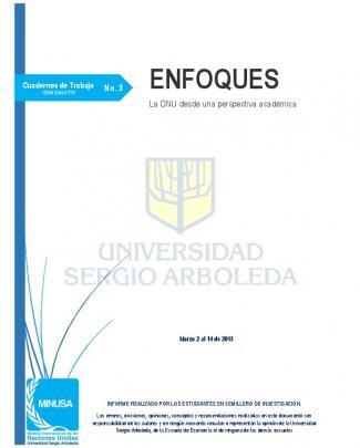 Enfoques No. 3 - Universidad Sergio Arboleda Bogotá