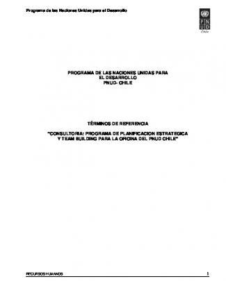 1 Programa De Las Naciones Unidas Para El