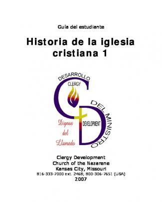 Historia De La Iglesia Cristiana 1