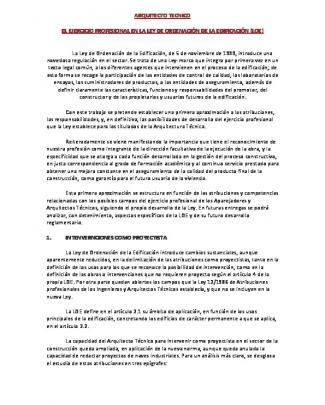 Arquitecto Tecnico Segun Loe - Ignacio Nicolas Arquitecto Tecnico