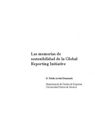 Las Memorias De Sostenibilidad De La Global Reporting Initiative