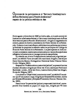 """Opiniones De Los Participantes En El """"seminario Interdisciplinario De"""