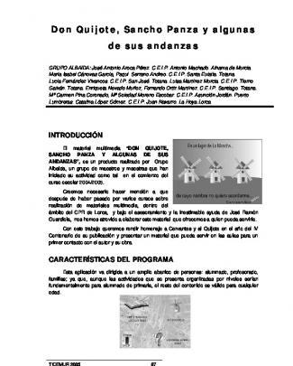 Don Quijote, Sancho Panza Y Algunas De Sus Andanzas