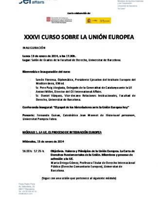Xxxvi Curso Sobre La Unión Europea