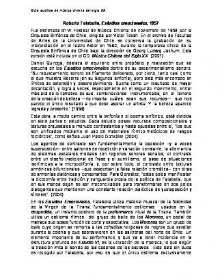 Estudios Emocionales - Guia Auditiva De Musica Chilena Del Siglo Xx