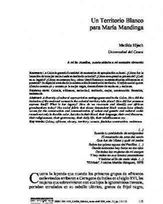 Imprima Este Artículo - Convergencia Revista De Ciencias Sociales