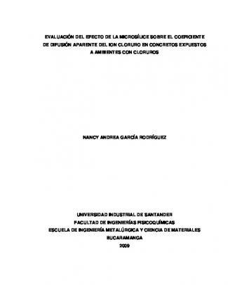 Evaluación Del Efecto De La Microsílice Sobre El Coeficiente De
