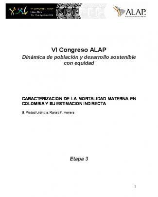 Vi Congreso Alap - Asociación Latinoamericana De Población
