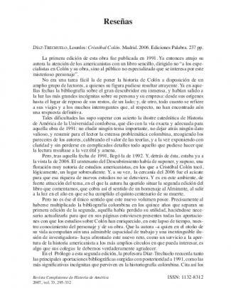 Díaz-trechuelo, Lourdes: Cristóbal Colón