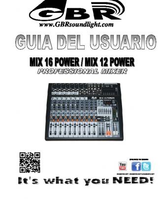 Consola Mix 16 Power - Mix 12 Power Spanish