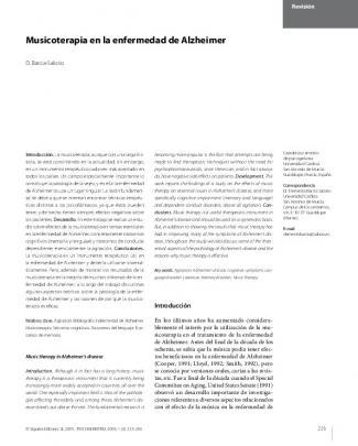 Musicoterapia En La Enfermedad De Alzheimer
