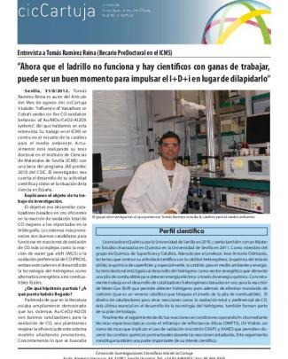 Tomás Ramírez Reina - Centro De Investigaciones Científicas Isla