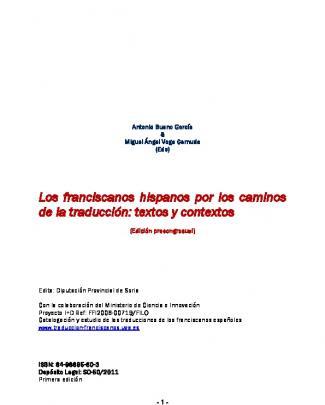 Los Franciscanos Hispanos Por Los Caminos De La Traducción: Textos Y