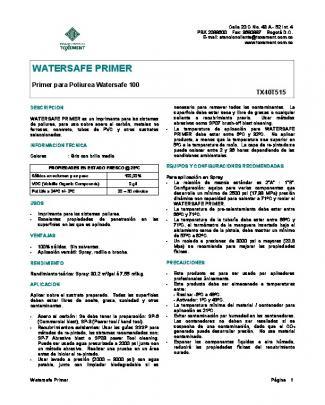 Watersafe Primer