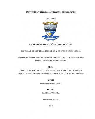 Universidad Regional Autónoma De Los Andes Uniandes Facultad De