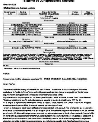 Sentencia 194/2006 Taf Rectificación De Partida Arquivo