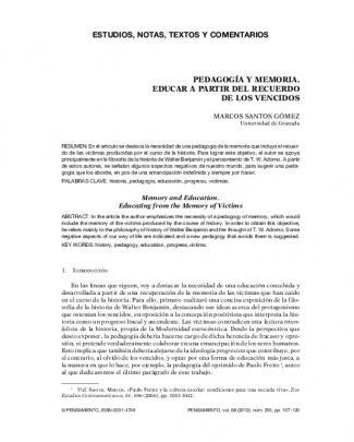Estudios, Notas, Textos Y Comentarios Pedagogía Y Memoria. Educar