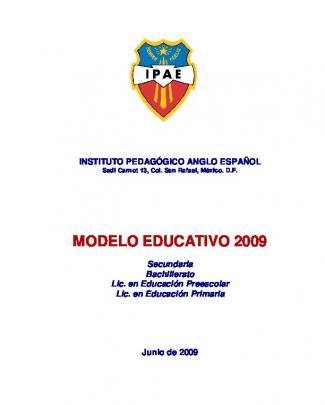 Modelo Educativo 2009