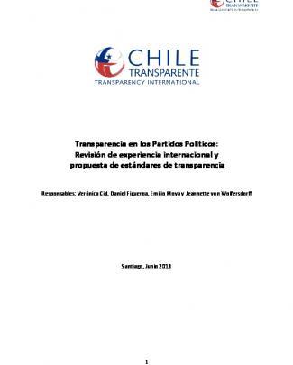 Transparencia En Los Partidos Políticos