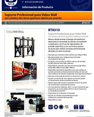 Soporte Profesional Para Video Wall Bt8310 - B