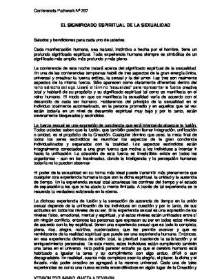 207 / El Significado Espiritual De La Sexualidad