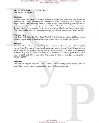 Zp: ¿el Hombre Político Ideal? José Arturo Salcedo Mena
