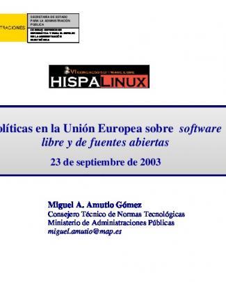 Políticas En La Unión Europea Sobre Software Libre Y De - Tldp-es