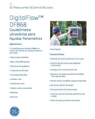 Panametrics Digitalflow Df868 Liquid Ultrasonic Flowmeter