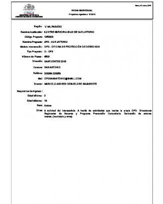 Ficha Individual Opd - San Antonio Sanfuentes